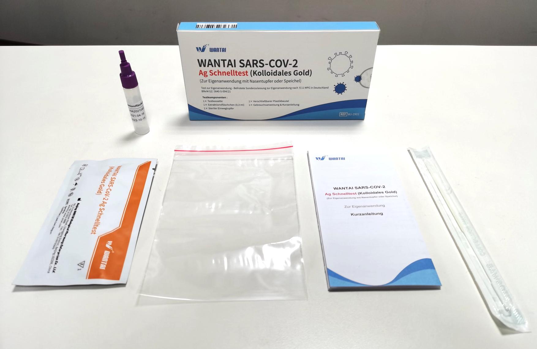 Wantai SARS-CoV-2 Antigen Laientest Speichel/Nasal (1er Packung)